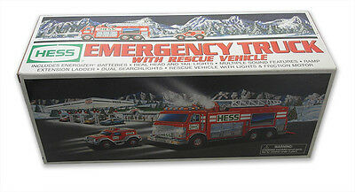 2005 Hess Emergency Truck with Rescue Vehicle, Mint in Mint Box FREE SHIPPING