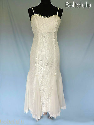 Sexy VINTAGE White DRESS Romantic LACE TULLE Fitted WIGGLE Party WEDDING Chic 8