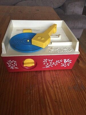 Vintage Child's Music Box Record Player Fisher Price