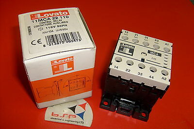 Lovato Control Relay 110V Type Mca . Part No. 11Mca 22