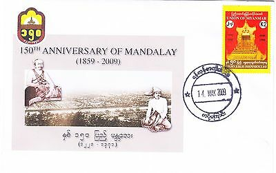 Myanmar 2009 cover marking the 150th anniversary of Mandalay
