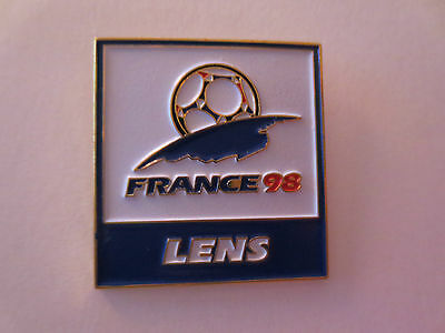 Official France 1998 Fifa World Cup Logo Host City Lens Pin Badge
