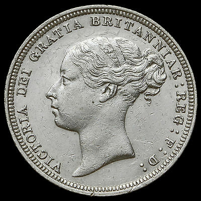 1880 Queen Victoria Young Head Silver Sixpence – Rare