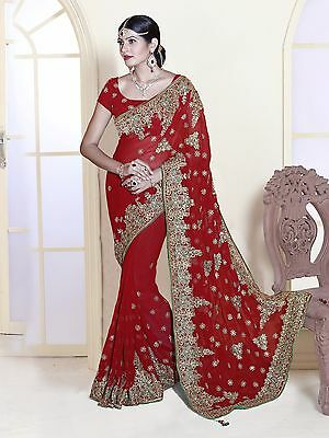 Exclusive Bollywood Party Wear Wedding Saree Designer Indian Bridal Sari