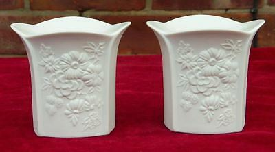 A Pair of Kaiser Porcelain Candle holders  signed by M Frey