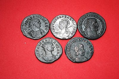 lot of 5 Roman coins.a
