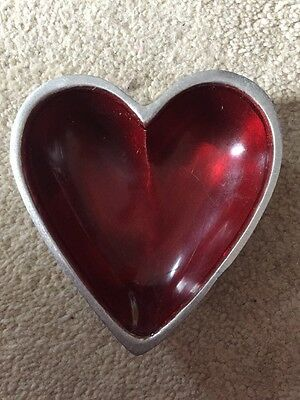 Pretty Heart Shaped Dish (measures 8cm By 8cm)
