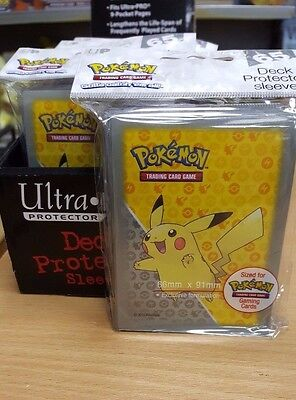 Pokemon Ultra Pro Series: 65 Deck Protector Sleeves, No PVC Acid-Free, Clear
