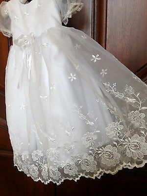 Toddler Flower Girls Dress Garden Lace White Bridesmaid Wedding Party Pageant