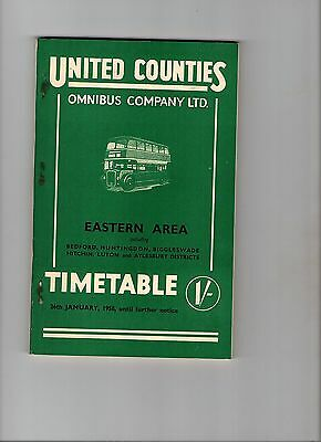 United Counties Omnibus Company Ltd. Timetable Eastern Area 1958