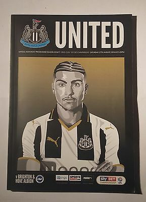 NEWCASTLE UNITED v BRIGHTON & HOVE ALBION MATCHDAY PROGRAMME 27/08/2016 **MINT**