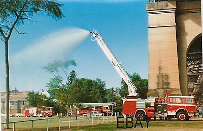 A 1983 International Aerial Pump with The Queensland Fire Service Postcard