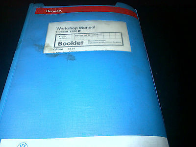 VW Passat 1988 on Workshop Manual Mono-Motronic Injection & Ignition System