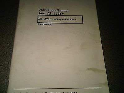 Audi A6 Workshop Manual Heating Air Conditioner 1998 onwards