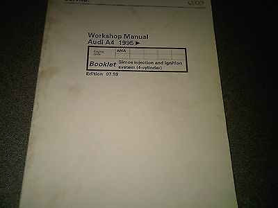 Audi A4 1995 on Factory Workshop Manual Simos Injection & Ignition 4 cylinder