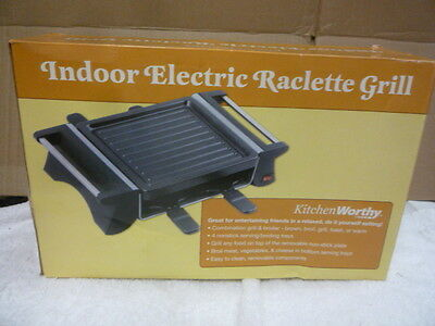 new indoor electric raclette grill 4 nonstick serving tray combo grill boiler