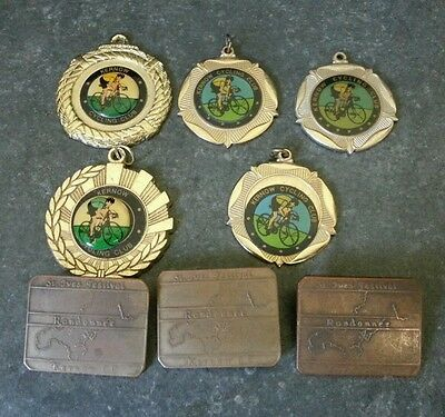 Collection of 8 Vintage Kernow Cycling Club Medals