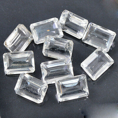 FACETED CHRYSTAL QUARTZ 77.10 Cts. LOOSE 10 PCS TOP QUALITY GEMSTONE