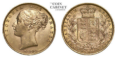 Great Britain Gold Coin Victoria 1872 Gold Sovereign EF+