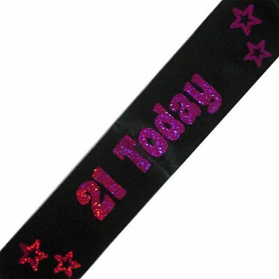 21 Today Black Birthday Sash Perfect Night Out Accessory