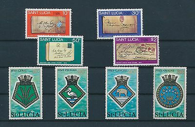LF69920 St Lucia letters coat of arms  fine lot MNH