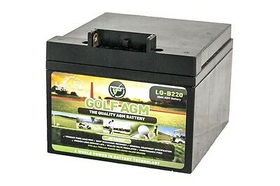 LEOCH AGM GEL GOLF BATTERY – LPC12-28 ah POWAKADDY – 36 HOLE **IRELAND**