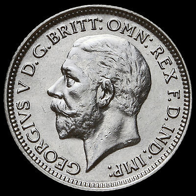 1928 George V Silver Sixpence – A/UNC