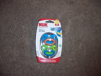 Nuk 18-36 months baby toddler orthodontic pacifier new blue green