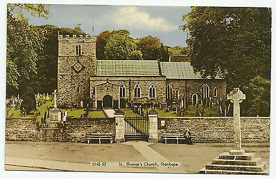 Nice Frith's Coloured PC of St. Thomas's Church, Stanhope, Weardale, Co. Durham