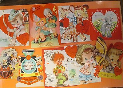 9  WONDERFUL Vintage VALENTINE Cards-Flat and Folding Cards--CUTE!--14