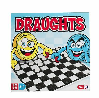 Traditional Draughts Set Board Game Classic Kids Family Strategic Planning Gift