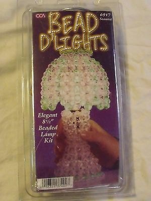 New/sealed-Bead D'lights Kit Makes A 8-1/2 In.clear/green Lamp- # 6917