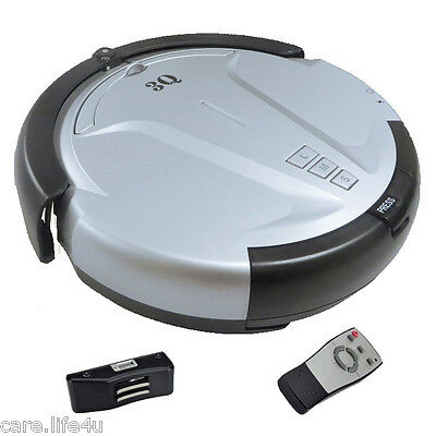 Robot Robotic Vacuum Cleaner Automatic Sweeping Mopping w/Dock and Remote, (U)