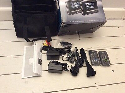 Bush Portable Car Dvd Twin Chargers Remote Cables New Case Spares