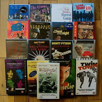 Job Lot of 17 VHS Tapes