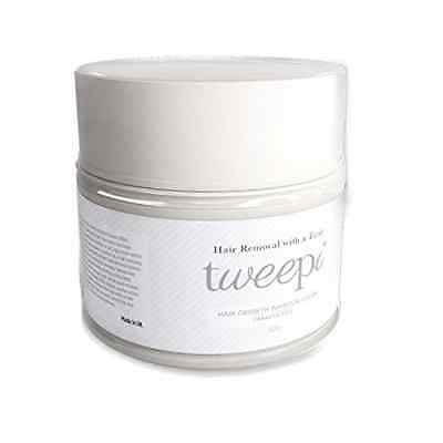 Tweepi Hair Growth Inhibitor Cream- Permanent Body And Face Hair Removal -