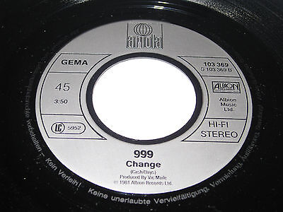 999 Obsessed 2 track only German 7' Inch Vinyl 1981 (punk, sex pistols, clash)