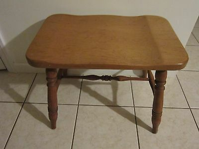 Large Vintage Wooden Stool / Bench In Great Condition Very Strudy