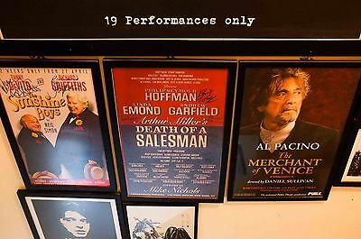 philip seymour hoffman death of a salesman   signed cast poster