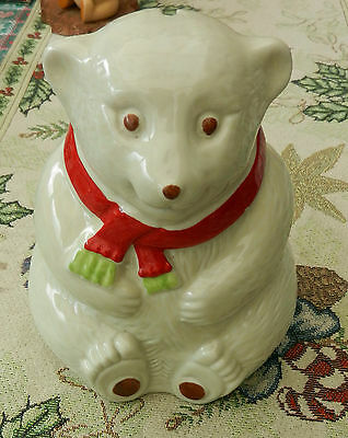 Thorntons Toffee Polar Bear Money Bank made by Wade Pottery