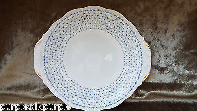 Vintage Queen Anne Bone China Cake Plate Serving Plate Stand