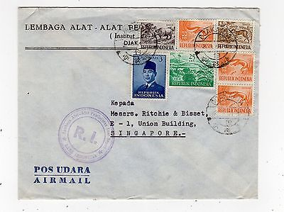 Indonesia: 1951 Air Mail Cover To Singapore (C24675)
