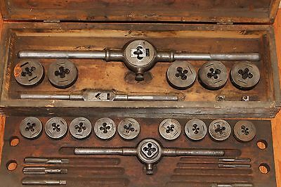 """Greenfield Little Giant Tap and Die Set 1/4""""-3/4"""" Standard SAE Coarse Fine NC NF"""
