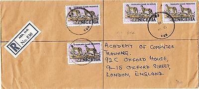 Nigeria 1976 registered cover from Aba HO to UK - LOOK