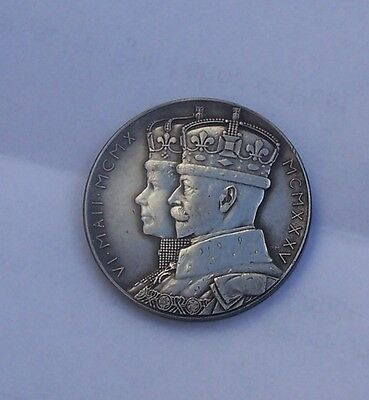 George V1 And Queen Mary Solid Silver Medallion