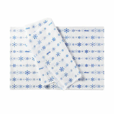 """Winter-Themed eBay Branded Tissue Paper: 20""""x30"""" - Shipping Supplies"""