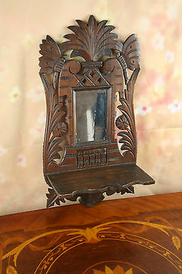 Carved wood wall ornament Flemish dated 1923