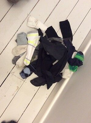 Assorted Pairs Of And Odd Socks Age 9-10-11-12 Great School. Hand Puppets!!