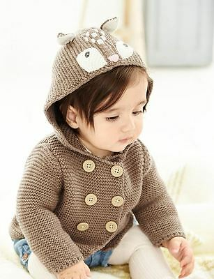 NEW! Baby Boden Mouse Marl Deer Girls Knitted Jacket 6-12 m
