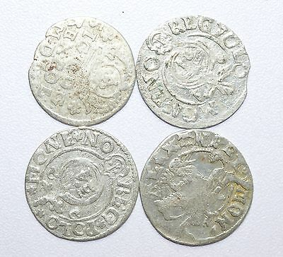 Scarce Lot Of 4 Medieval Silver Hammered Coins - Great Details - Z278